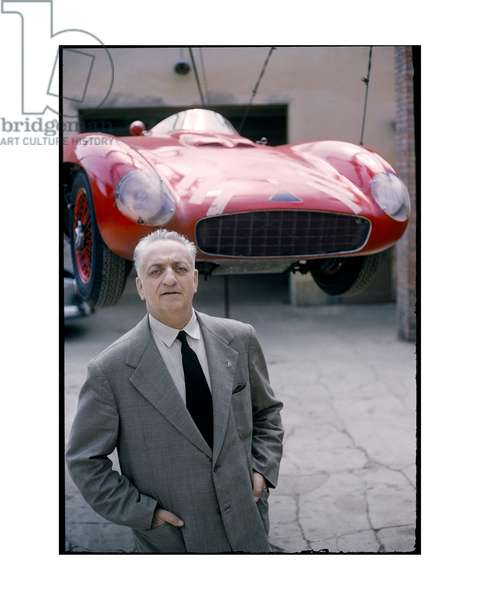 Enzo Ferrari, 1956 (photo)