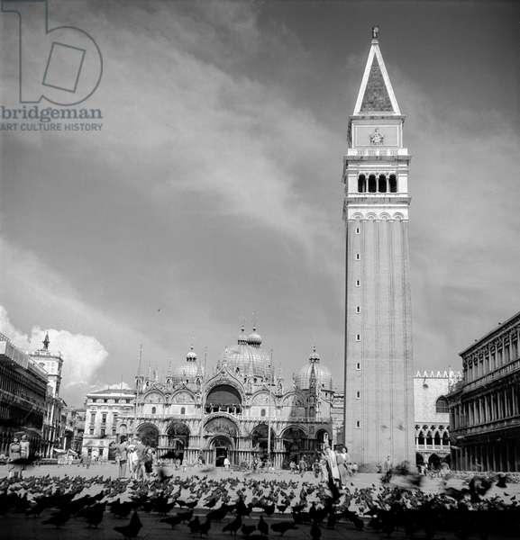 Piazza San Marco, Venice, 1947 (b/w photo)
