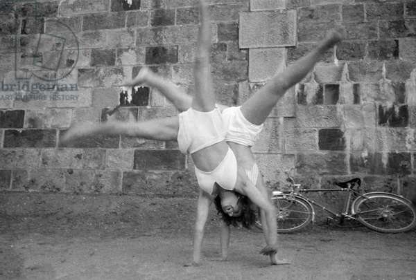 Cartwheel (b/w photo)