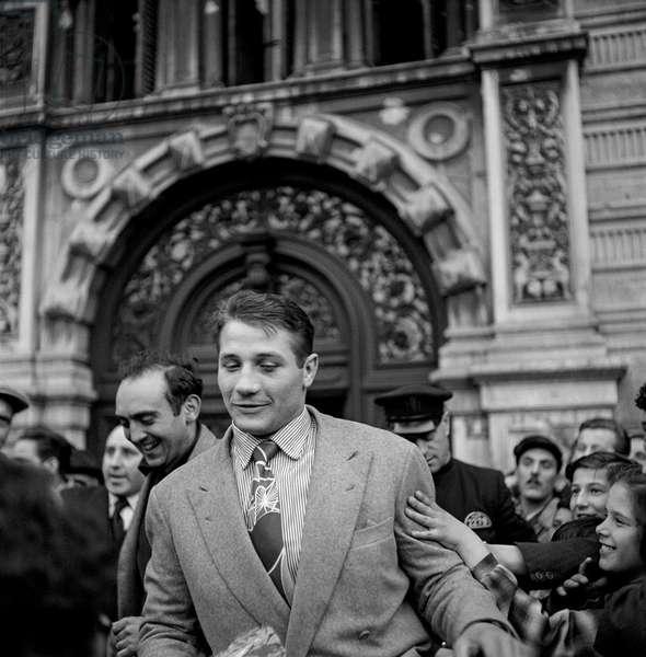 Tiberio Mitri, 1948 (b/w photo)
