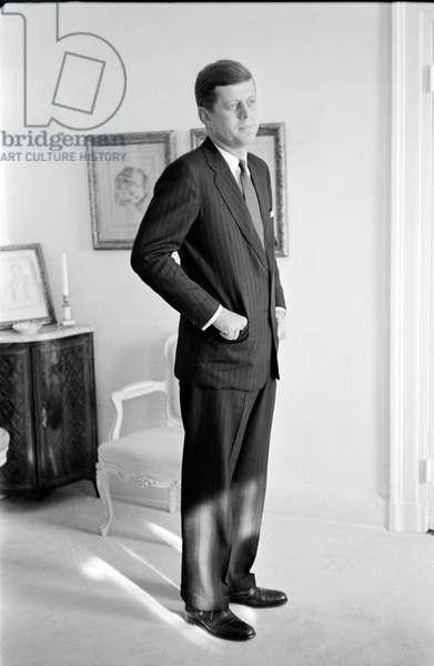 John F. Kennedy (b/w photo)