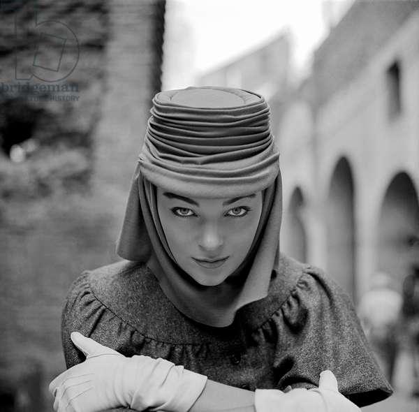Ivy Nicholson, Rome, 1954 (b/w photo)