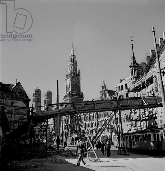Munich Ruins, 1948 (b/w photo)
