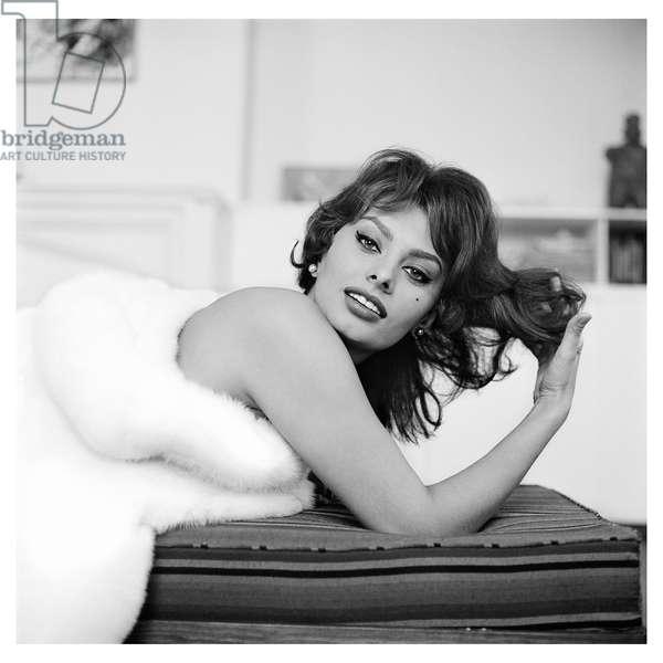 Sophia Loren, NY, 1959 (b/w photo)