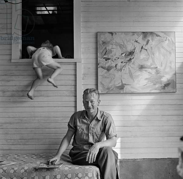 Wilfrid Zogbaum, East Hampton Art Colony, New York, 1953 (b/w photo)
