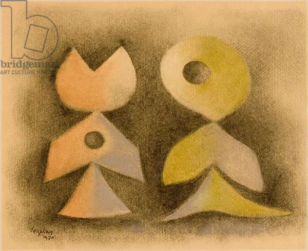 Untitled, 1970 (charcoal and pastel on paper)