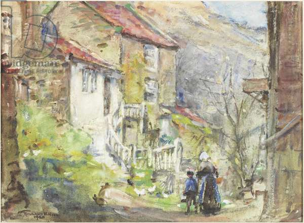 A Runswick Cottage (watercolour and bodycolour on paper)