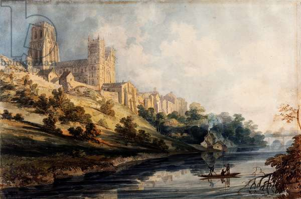 Durham Cathedral, 1795 (w/c with touches of gum arabic on wove paper)