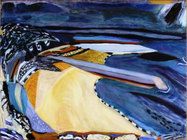 Beach after Cullercoats, 1989-90 (acrylic on canvas)