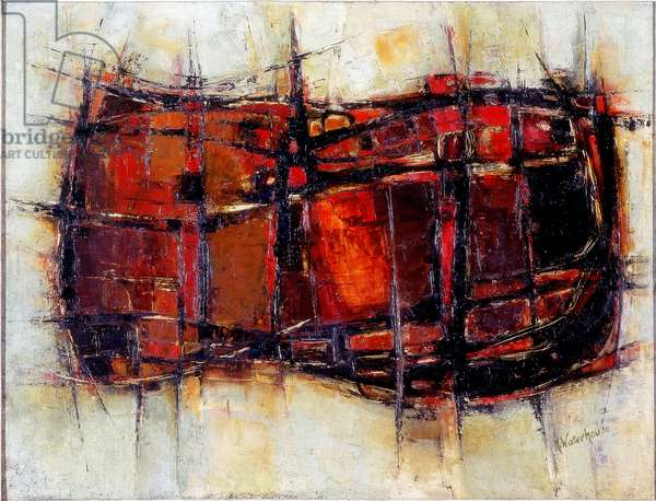 Linked Forms, c.1963 (oil on board)
