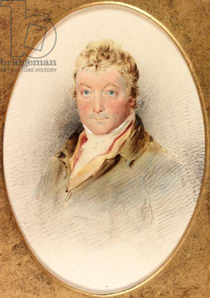 Charles John Brandling, M.P. (b/c, pencil & w/c on card)