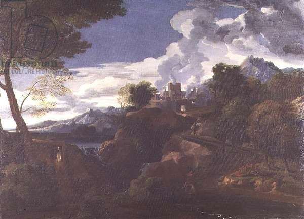Landscape with a Burning City