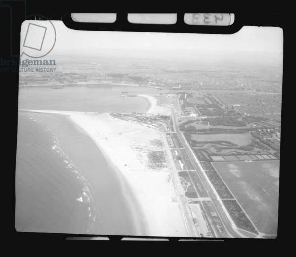 Aerial view of South Shields (b/w photo)