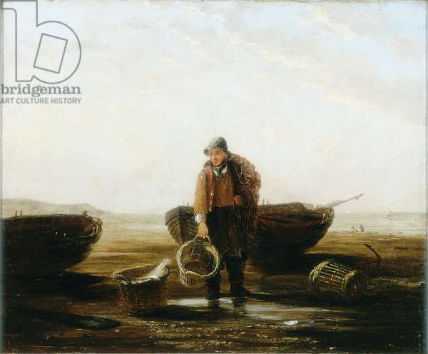 The Fisherman (oil on canvas)