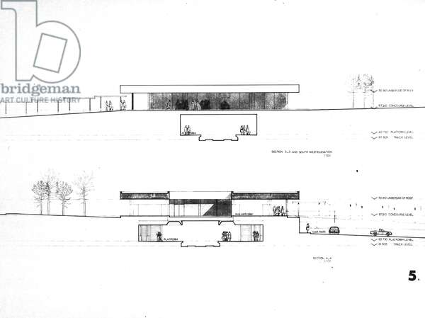 Four Lane Ends Tender Drawing, 1975-77 (litho)