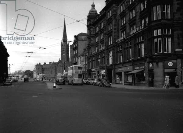 View of Neville Street, Newcastle upon Tyne, UK, 1961 (b/w photo)