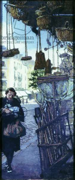 Dieppe, la Place Nationale, painted before 1935 (oil on canvas)