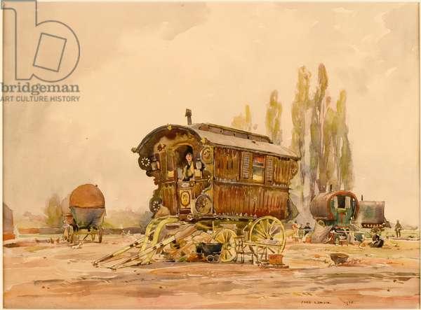 The Caravan (pencil & w/c on paper)