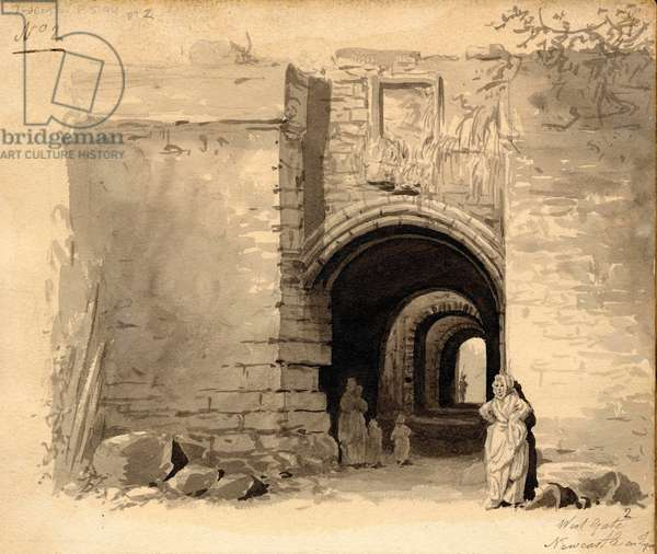 West Gate, Newcastle upon Tyne (ink & pencil on paper)