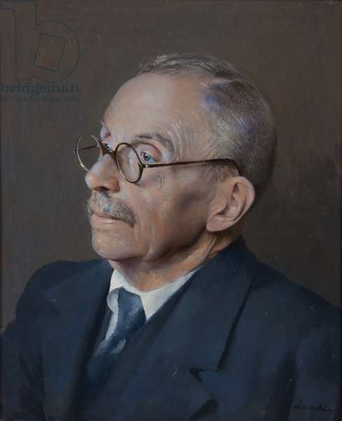 Portrait of Dr. Wilfred Hall (one of the founders of the Museum) (oil on canvas)
