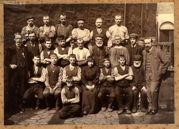 The Crew of HMS Mauretania (b/w photo)