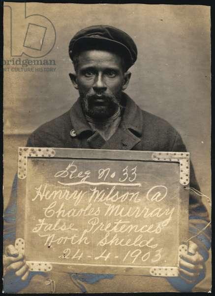 Henry Wilson alias Charles Murray, North Shields, UK, 1903 (b/w photo)
