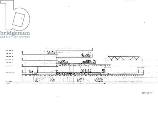 Regent Centre Metro Station Plan, 1975-77 (litho)