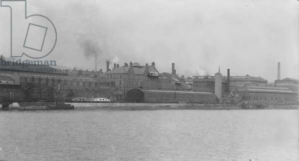 View of the Engine Works and Head Office, Elswick Works, Newcastle upon Tyne (b/w photo)