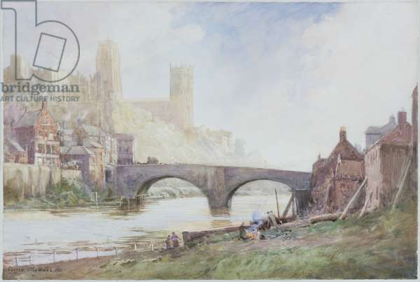 Durham, 1921 (pencil & w/c on paper pasted on card)