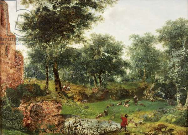 Wooded Landscape, c.1690-1700 (oil on canvas)