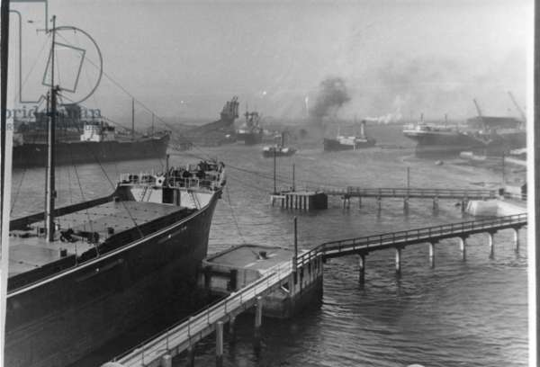 View of Blyth Harbour (b/we photo)