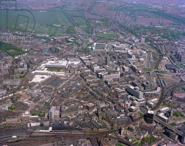 Aerial view of Newcastle City Centre, Newcastle upon Tyne, UK, 1977 (photo)