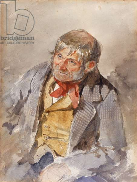 A Cullercoats Fisherman (bodycolour on paper)