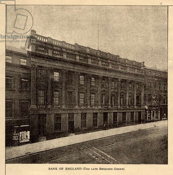 Bank of England, The Architecture of Newcastle-on-Tyne, from 'The Builder', 8th October, 1898 (photolithographic print)