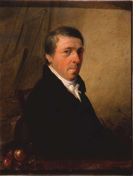Portrait of George Gray (oil on metal (tin))