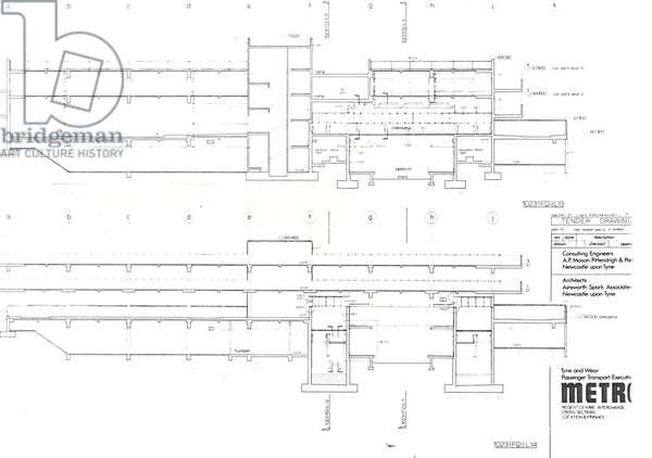 Regent Centre Metro Tender Drawing, 1975-77 (litho)