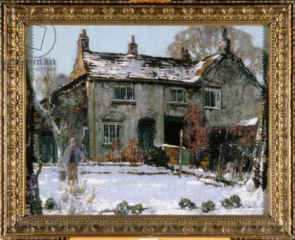 Dappled Sunlight on Snow, 1924 (oil on canvas)