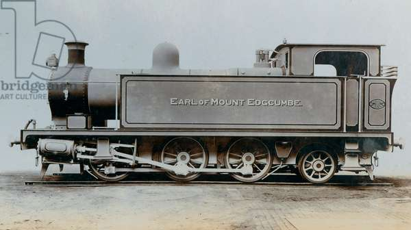 An image of the side tank engine 'Earl of Mount Edgcumbe', one of two ordered by the Bere Alston & Calstock Railway in October 1906 (photo)
