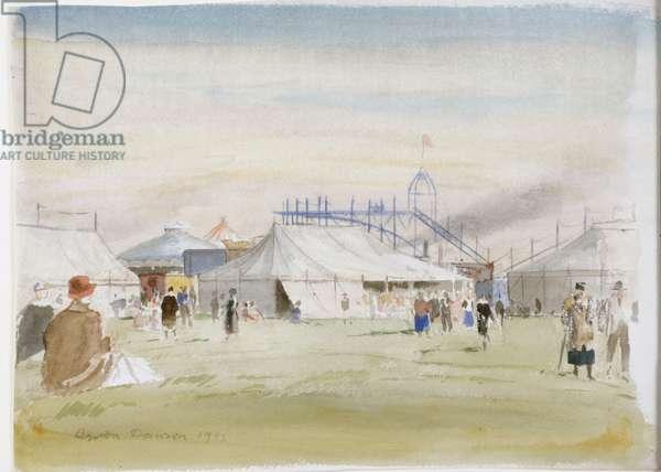 Fairground, 1933 (pencil & w/c on paper)