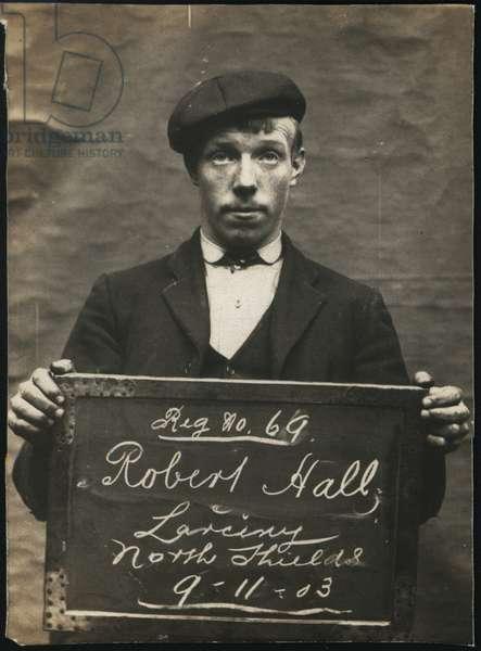 Robert Hall, North Shields, UK, 1903 (b/w photo)