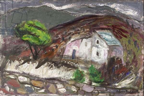 The Valley of San Martino di Lota, Corsica, c.1950-60 (oil on board)
