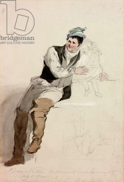 Bob Mills of Cullercoats, 1834 (pencil & w/c on paper)