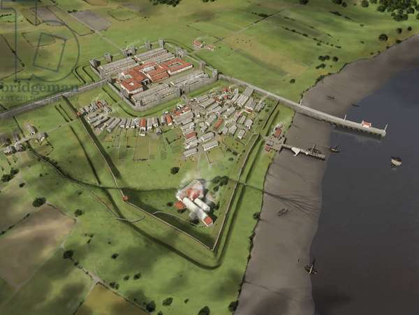 Reconstruction of Wallsend fort and vicus in the third century AD, 2015 (digital)