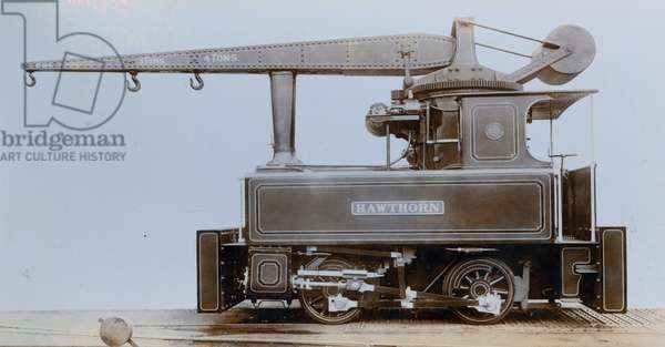 Crane locomotive built in Newcastle upon Tyne ordered by Mr Hanning, Paris in 1909 (photo)