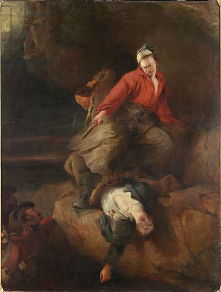 Smugglers Attacked (oil on canvas)