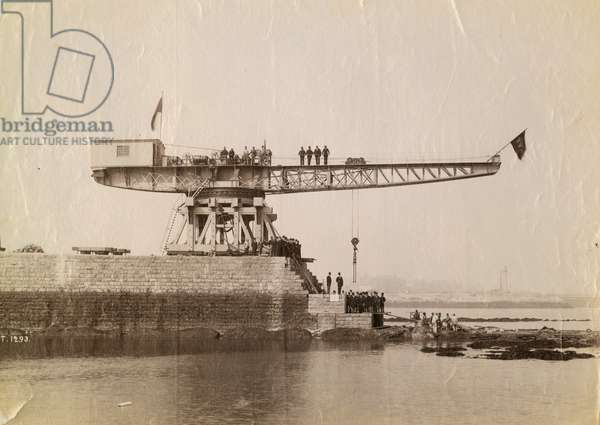 Official inauguration of the South Pier, Sunderland, UK, 1893 (b/w photo)
