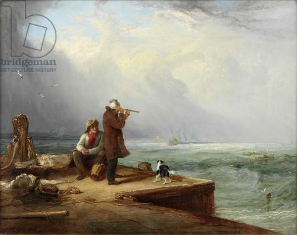 The Look Out, Shields Harbour, 1831 (oil on panel)
