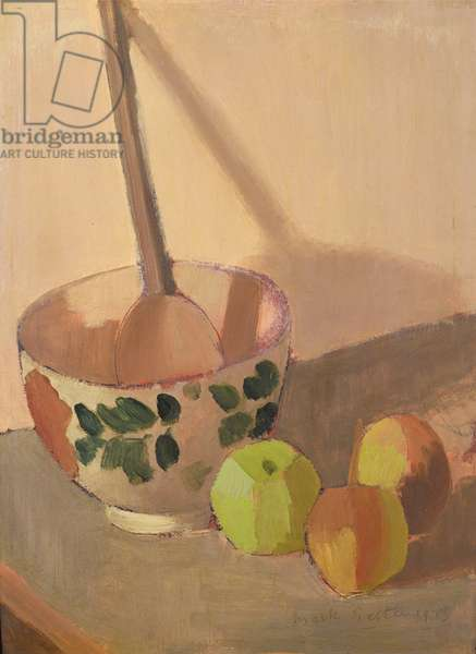 Still Life with Apples and a Mixing Bowl, 1913 (panel)