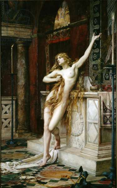 Hypatia, 1885 (oil on canvas)