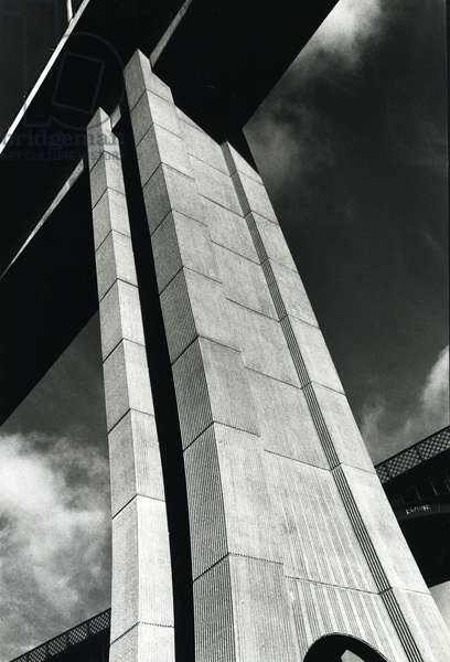 View of the Byker Viaduct, Tyne & Wear, UK, 1979 (b/w photo)